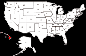 where is on the map where is hawaii on the map my