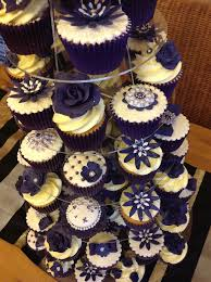 wedding cake and cupcakes purple images about purple wedding on