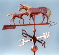 Horse Weathervane For Barn Polo Pony Horse With Rider Weathervane Handcrafted Of Copper