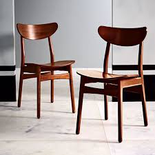 Dining Chairs Wood Classic Café Walnut Dining Chair West Elm