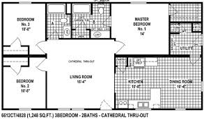 large home floor plans sectional mobile home floor plan the 6612ct view