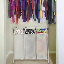 laundry divider hamper white triple sorter laundry hamper u2014 sierra laundry organizer