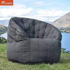 outdoor bean bags butterfly sofa black rock sunbrella bean