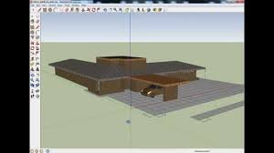 contemporary usonian house plan partially completed in google