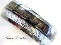 men wedding ring antler ring tungsten wedding bands anniversary ring