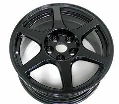 gloss black powder coated evo wheels http www