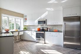 Wonderful Modern White Wood Kitchen Cabinets  Contemporary - Modern white cabinets kitchen