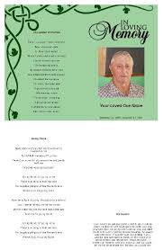 funeral programs online green funeral program template green funeral program