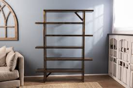 Walnut Ladder Bookcase Unique Bookshelf James James Furniture Springdale Arkansas
