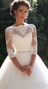 robe de mariã e avec dentelle robe de mariée milla princesse avec de la dentelle manches