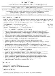 exles of resumes for management jefferson middle school homework help resume gift shop sales