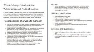 business owner job description for resume maintenance director job description grad assistant job