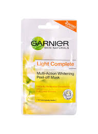 Masker Garnier Lemon jual garnier light complete peel mask