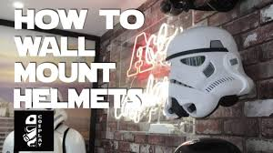 clone trooper wall display armor how to wall mount stormtrooper helmets youtube