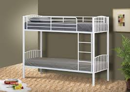 Metal Single Bunk Bed In Ft Bunk Metal Frame White Black Silver - Ebay bunk beds for kids