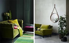 canapé vert la fabrique à déco canapé en velours choisir style et sa couleur