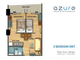 2 Bedroom Condo Floor Plan Azure Urban Resort Residences Floor Plans Real Estate In Manila