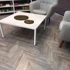 Grey Wood Effect Laminate Flooring Parquet Herringbone Effect Laminate