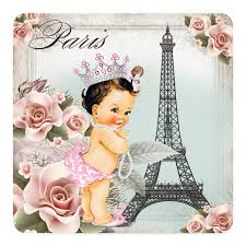 parisian baby shower personalized eiffel tower invitations custominvitations4u
