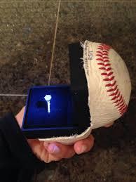 Baseball Wedding Ring by Memorable Proposal At Seattle Mariners Baseball Game Robbins