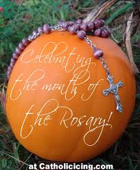 celebrating the month of the rosary