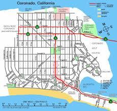 Map San Diego Coronado Island Map San Diego San Diego Coronado Map California