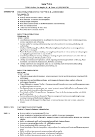 resume template administrative w experience project 211 lancaster director operations resume sles velvet jobs