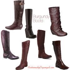 target womens boots zipper burgundy boots polyvore