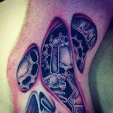 biomechanical tattoo for knee biomechanical tattoos on knee tattoos pinterest biomechanical