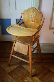 antique wooden high chair with tray all us siblings ate from this