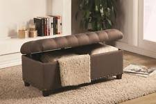Tufted Storage Bench Tufted Storage Ottoman Bench In Mocha Brown Fabric By Coaster