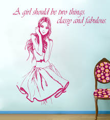 wall murals girls promotion shop for promotional wall murals girls a girl should be two things special quotes art wall stickers home bedroom styling beautiful salon series decor wall mural wm 538