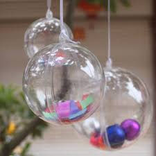 amazon com aerwo 40mm transparent fillable ball bauble christmas