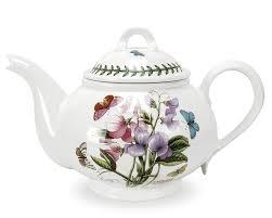 portmeirion botanic garden 2pt teapot romantic shape amazon