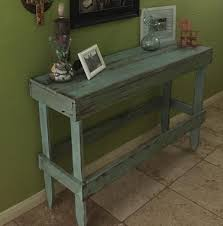 Hall Table Plans Diy Distressed Pallet Entryway Table Pallet Furniture Plans