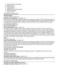 Firefighter Resume Examples by Emt Resumes Resume Cv Cover Letter