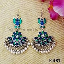 stylish earrings stylish afghani earring at rs 300 pair afghani earring gems n