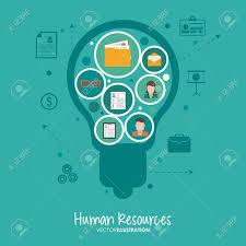 bureau des ressources humaines concept de ressources humaines avec des icônes de bureau de
