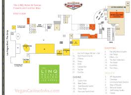 Las Vegas Fremont Street Map by The Linq Casino Property Map And Layout