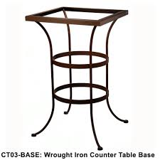 Ow Lee San Cristobal by Ow Lee Standard Wrought Iron Counter Height Table Base Ct03 Base