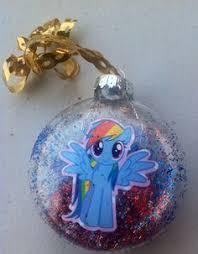 my little pony christmas ornament set set of 4 balls my little