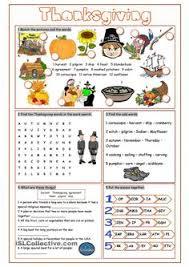 thanksgiving history vocabulary tutoring ell