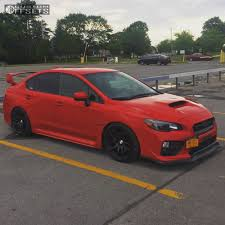 black subaru 2017 wheel offset 2017 subaru wrx nearly flush coilovers