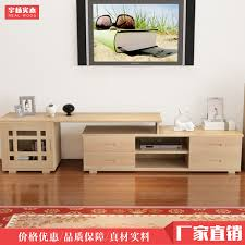 Pine Living Room Furniture by Pine Wood Retractable Tv Cabinet Coffee Table Combination Living