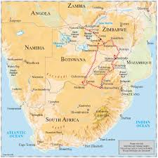 South African Airways Route Map by Luxury Train Club Pride Of Africa Rovos Rail