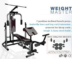 bench press 100kg weightmaster bench gym bench press weightmaster bench gym