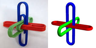 borromean ring pair o boxes sculpture by zachary abel