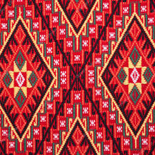 colorful thai handcraft peruvian style rug surface close up more