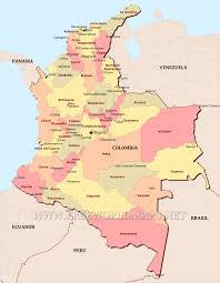Cordoba World Map by Colombia Political Map