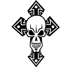 free skull cross vector 123freevectors